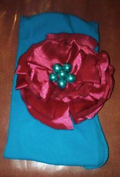 Tiara azul y rosa