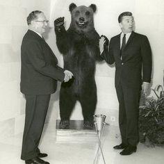 Tito, bear and Kirk Douglas