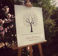 """Arboles de boda para """"dejar huella"""" http://tulytulipanes.bigcartel.com/product/arbol-de-huellas-personalizable"""