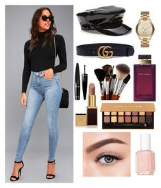 """""""Untitled #315"""" by glissy23 on Polyvore featuring Levi's, Gucci, Michael Kors, Dolce&Gabbana, Anastasia Beverly Hills, Tom Ford, Guerlain, Essie and Morphe"""