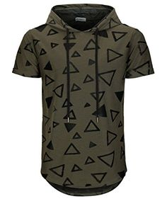 4ff00877c7c1 Editor choice KLIEGOU Men s Hipster Hip Hop Hoodie Hole Tshirt 1705-2.  Explore our