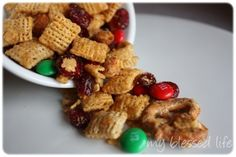 cranberry chex mix ~ great christmas gift idea