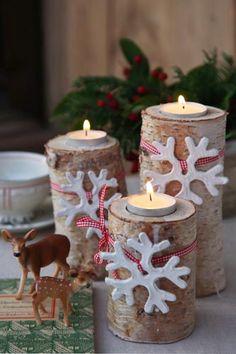 DIY Christmas tea candle holders