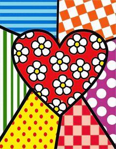 Doodle Art, Arte Country, Valentines Art, Heart Wallpaper, Arte Pop, Heart Art, Art Plastique, Painted Rocks, Folk Art