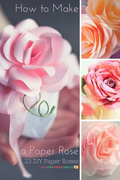 You can make roses that never wilt when you make paper roses! These stunning DIY paper roses are not to be missed.