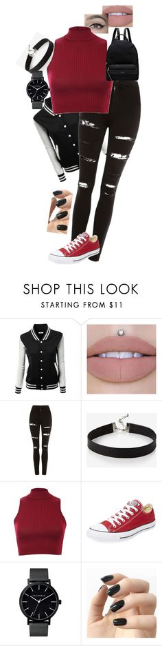 """outfit"" by kaylie203 ❤ liked on Polyvore featuring Topshop, Express, Pilot, Converse, Incoco and Radley"