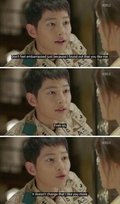 Korean Drama Romance, Korean Drama Funny, Korean Drama Quotes, Korean Drama Movies, Korean Dramas, Descendants Of The Sun Wallpaper, Decendants Of The Sun, Song Joon Ki, Best Kdrama