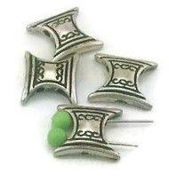 4 bow tie like 2 hole slider beads c151