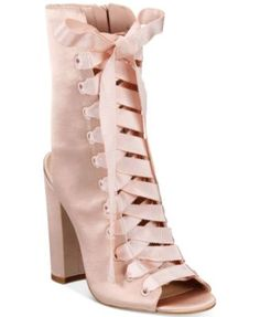 fbdf95d3 ALDO Rosamilia Lace-Up Block-Heel Booties & Reviews - Boots - Shoes -  Macy's. ComprasTacones De ...