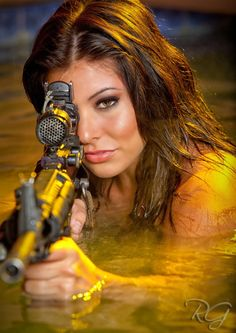 Michelle Viscusi is the newest addition to Glock USA, the handgun manufacturer's practical pistol shooting team. Viscusi gained fame as a contestant on History Channel's Top Shot during season 4 and is currently an E4 in the Arizona National Guard. (May 15, 2012)