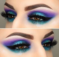 Purple and blue eyes!