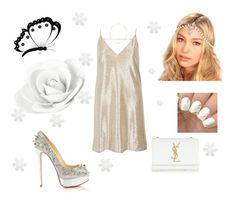 """""""White"""" by belen-lillo on Polyvore featuring moda, River Island, Idylle, Christian Louboutin, Kristin Perry, Yves Saint Laurent y Dot & Bo"""