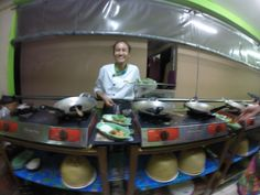 Our friendly cooking teacher, Bangkok
