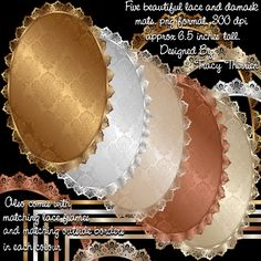 Metallic Damask Mats and Frames - $1.99 :   DELIGHTFUL-DOODLES.COM  Designer and crafting resources.