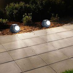 Pure Garden Set of 4 Solar Outdoor LED Rock Landscaping Lights