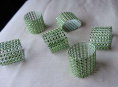 WEDDING NAPKIN RINGS Faux Apple Green by ModernClassicbyCarol