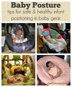 Learn the importance of your baby& position when in baby gear and tips for safe and healthy positioning in baby gear. Great information for new parents and those with a new baby on the way! Baby Must Haves, Baby Boys, Carters Baby, Toddler Girls, Baby Position, Timmy Time, Baby Shooting, Baby Swings, Baby Supplies