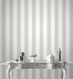 Glitterati White / Silver Wallpaper by Graham and Brown