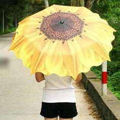 Sunflower-Print Umbrella