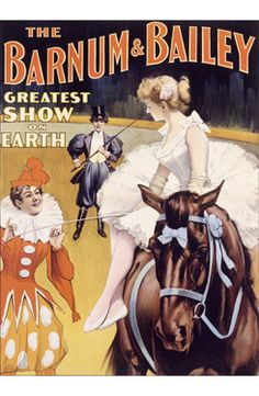 Barnum and Bailey Circus Clown Poster
