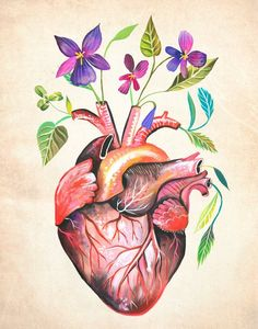 This listing is for an inkjet print of my original watercolor + acrylic artwork. Printed on high quality Epson Matte paper wit Heart Painting, Love Painting, Acrylic Artwork, Medical Art, Heart Art, Woodblock Print, Art Inspo, Watercolor Art, Wall Art Prints