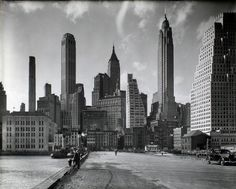 NYC. Manhattan's skyline 1936.