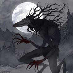 Wendigo Art Print by irenhorrors Horror Art, Creature Drawings, Art, Dark Art, Fantasy Monster, Monster Art, Dark Fantasy Art, Dark Creatures, Wendigo
