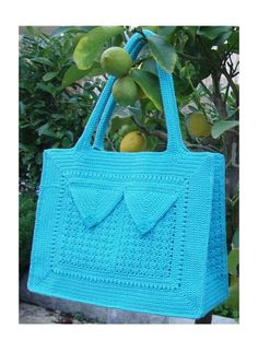 Summer blue Crochet Bag Pattern  with 3 by PdfPatternDesign, €6.00