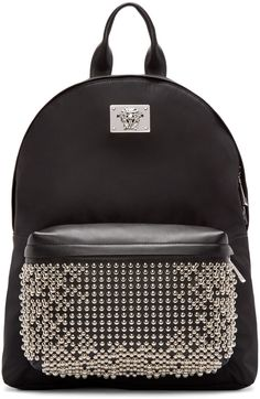 1005206e2b Versace Black Studded Medusa Backpack Studded Backpack