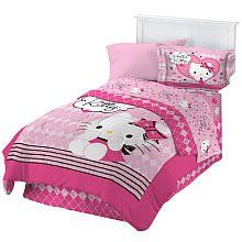 $91.99 Hello Kitty Sweet and Sassy Full Comforter Set  From FRANCO   Get it here: http://astore.amazon.com/allaboutyourbed-20/detail/B006G19SY6/184-1017885-4267434