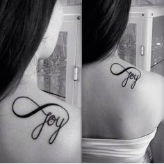 Joy Tattoo. Infinity Symbol