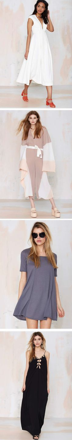 Get ready for the heat in #NastyGal maxi dresses, swing dresses and pastel stunners!