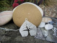 Sterling silver Hedgerow Tree pendant by Ruth Makes Jewellery