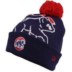 Chi Cub Gear : New Era Chicago Cubs Woven Biggie Knit Cap – Navy Blue