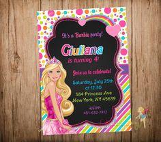 23 ideas de barbie invitaciones de