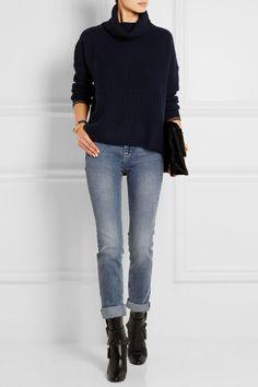 Rag & bone Sarah ribbed cashmere and wool-blend turtleneck sweater NET-A-PORTER.COM