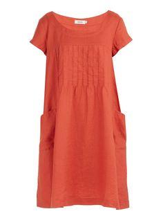 Tuck Front Dress Orange