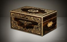 Daniel Lucian | Antique Jewellery Cabinet in Rosewood with Foliate Brass Inlay and Ten Drawers