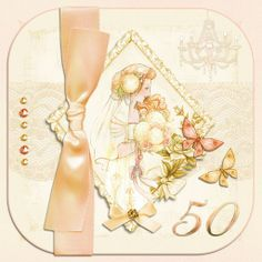 Special Birthdays, a project by Heather. Card & or topper Idea...Created using Serifs Hearts Designs - Hearts & Roses plus La Femme and Nouveau Love kits... Additional effects include crop to shape and edit, to shape material and transparency blends x
