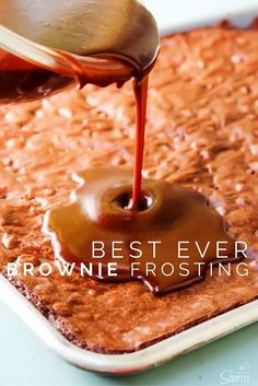 Best Ever Brownie Frosting -  It is seriously the best! Get yourself ready to lick the bowl clean