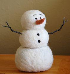 DIY Needle Felting kit Needle Felted Snowman by BearCreekDesign Felt Snowman, Frosty The Snowmen, Snowman Crafts, Christmas Projects, Felt Crafts, Holiday Crafts, Snowman Poem, Snowman Kit, Holidays Events