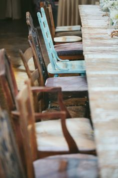 Would love to have a big outdoors with room for lots of eclectic chairs around a garden table.