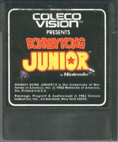 Would you agree that the second best Donkey Kong gaming in the 1980s was Donkey Kong Junior for the ColecoVision?