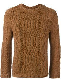 MAISON MARGIELA distressed effect cable knit sweater. #maisonmargiela #cloth #sweater