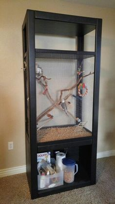 ♥ Pet Bird Cage Ideas ♥ DIY Cockatiel Cage