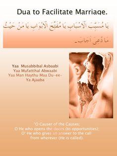Dua to make your marriage easier Doa Islam, Islam Hadith, Allah Islam, Islam Muslim, Islam Quran, Alhamdulillah, Quran Surah, Prayer Verses, Quran Verses