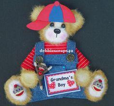 TWAG*DEBBIE* BABY BOY GRANDSON TEAR BEAR PAPER PIECE SCRAPBOOKING PAGES CARD
