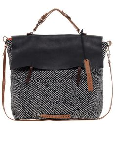 Tweed + leather bag / pauric