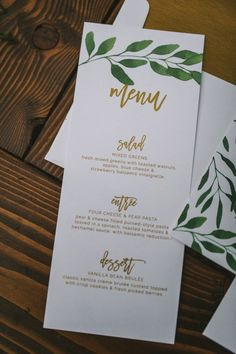 Nature-inspired boho menu | Nhiya Kaye Photography