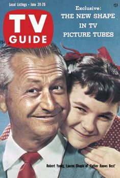 """TV Guide, June 20, 1959 - Robert Young and Lauren Chapin of """"Father Knows Best"""""""